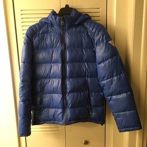 Men's Guess Bubble Coat sz. M Blue Puffer Jacket